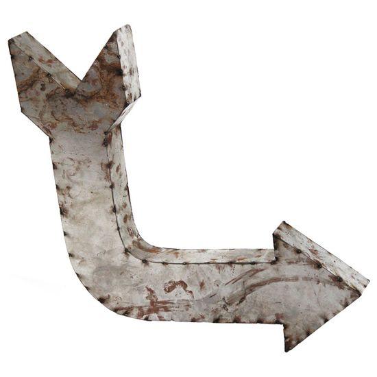 Zentique Metal Arrow Symbol 2 @Zinc_Door #accessories #industrial  #arrow #metal #wallart