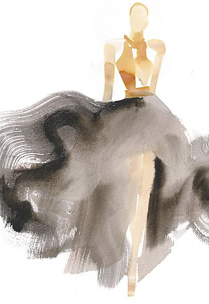 Fashion Sketch: Watercolor gown