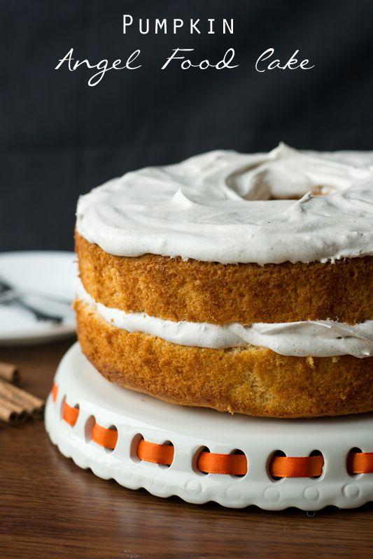 Pumpkin Angel Food Cake on MyRecipeMagic.com #cake #pumpkin #angelfood
