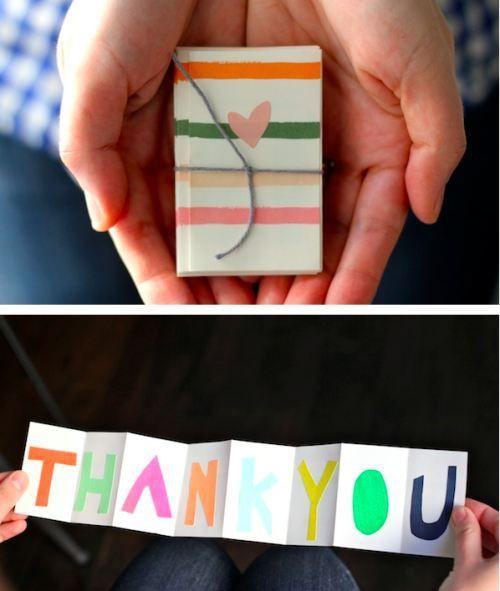 ~Opgevouwen dank je-kaart~