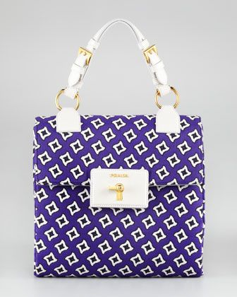 Top Handle Medallion Tote by Prada at Neiman Marcus.