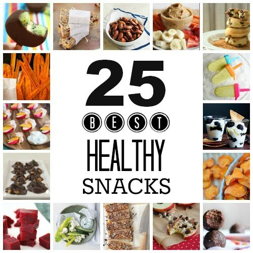 Summer snacks don't have to be all sugar and junk food! 25 Healthy Snacks for Summer
