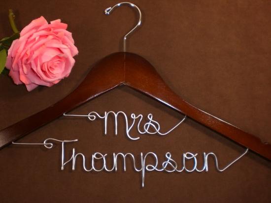 hanger for the wedding dress ?