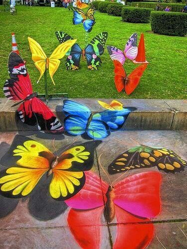 Butterfly 3D art