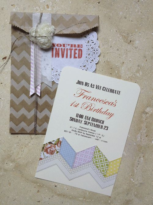 Francesca-Invite..Stampin' Up! Birthday Invitation
