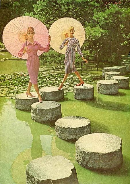 Parasols in Japan    From Mademoiselle, January 1959