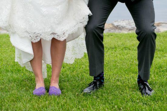 Bride In Purple Shoes