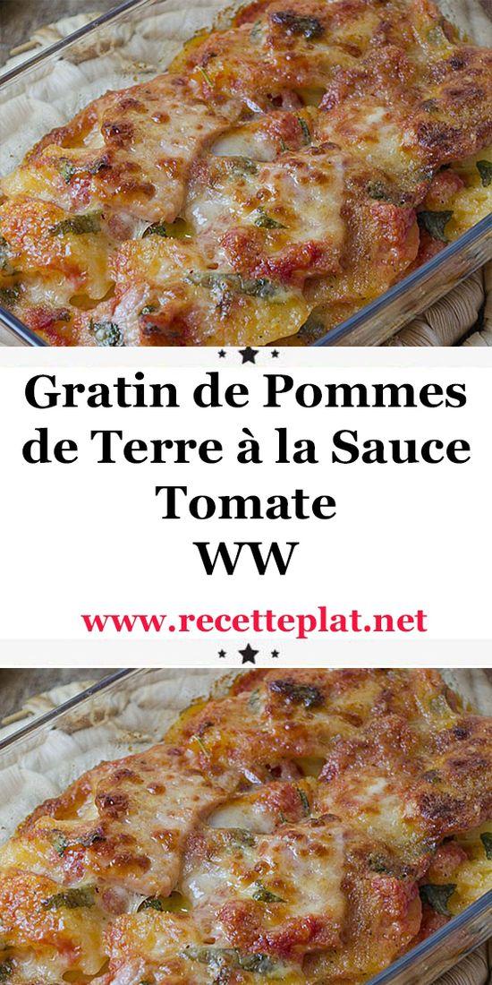 Voici la recette du gratin de pommes de terre à la sauce tomate WW,  un savoureux gratin léger à base de pommes de terre, de jambon et de sauce tomate  facile à cuisiner et parfait à servir avec une bonne salade de légumes pour un repas équilibré.