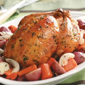 Roasted Chicken with Rosemary Recipe from Taste of Home