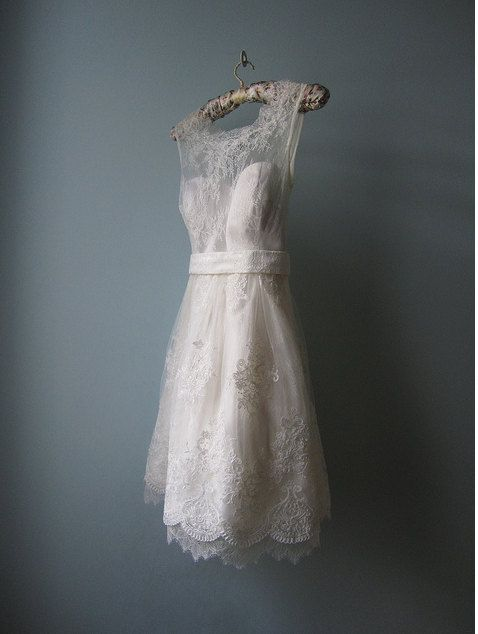 #lace #short #wedding dress