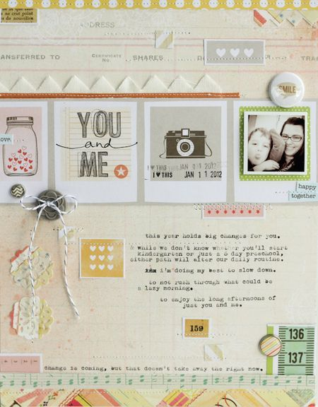 Simple layout #scrapbook #layout #journal