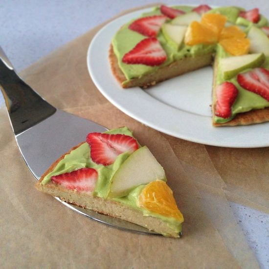 Fruit Pizza with a Maple Quinoa Pizza Crust