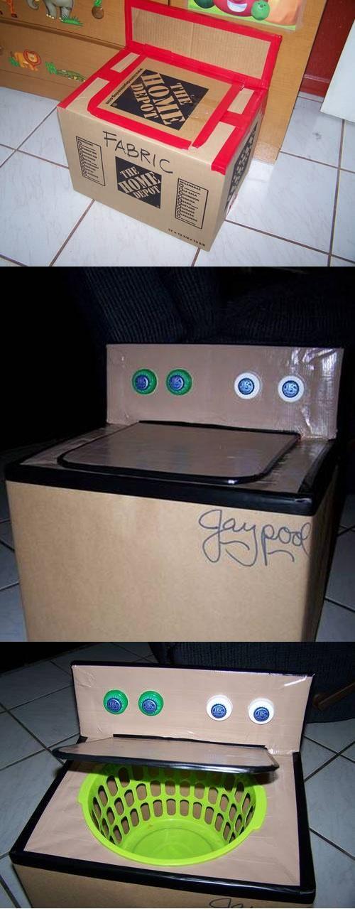 DIY :: DIY washing machine for kids ( www.craftster.org... )