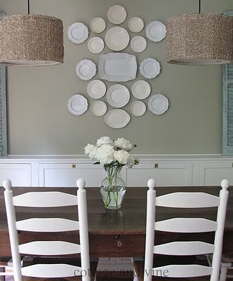 Love white plates on a wall!
