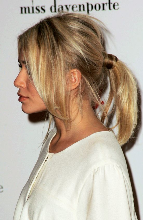 Ashley Olsen; Perfect Ponytail.