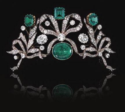 Emerald and Diamond Tiara, Belgium