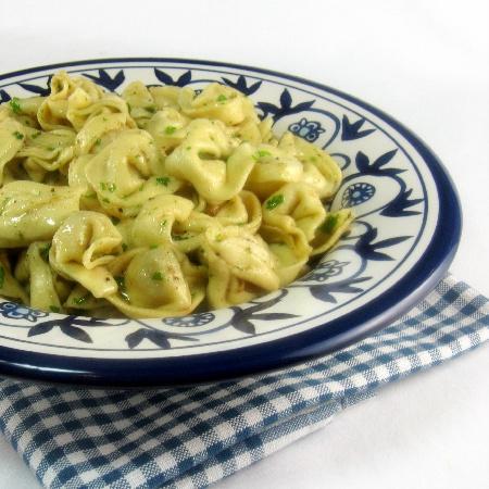Tortellini w/Garlic and Sage Butter.