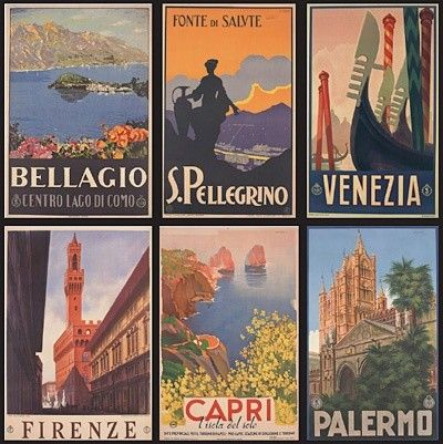 How awesome are these vintage #Italy posters? (thanks for pinning, @arleannmg!)