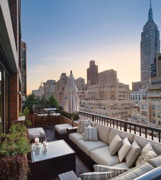 Urban terrace. Great article and pointers on designing outdoor spaces...http://www.cottages-gardens.com/Cottages-Gardens/May-2011/Chris-Meyers/ #interiordesign #exteriordesign #landscapearchitecture #architecture #design #decor #newyork #nyc #ny #cityscape #urbanism #city #view #vista #furniture