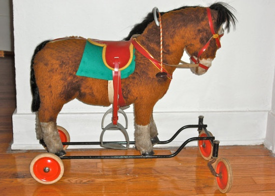Vintage Steiff Horse Pull Toy or Ride and by SparkleLightAndDark, $245.00