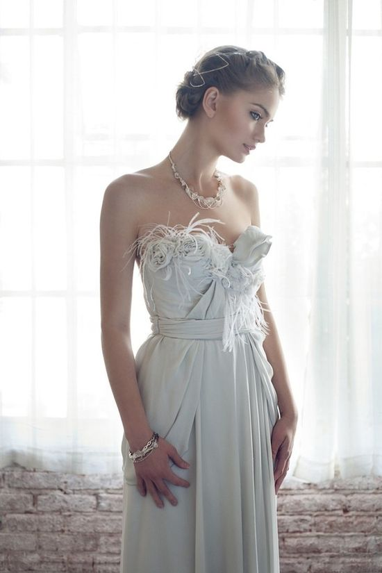 Parisian Princess Silk Wedding Gown via Etsy