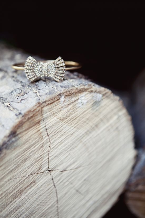vintage bow engagement ring (photo by @Carina . . Romano of Love Me Do)