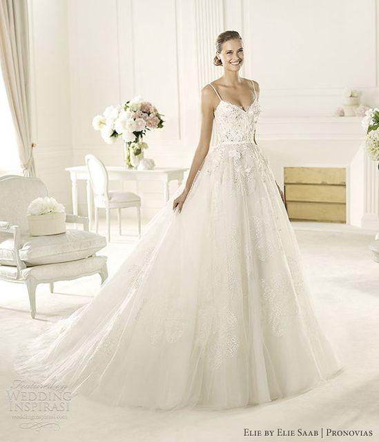 elie by elie saab wedding dresses 2013 pronovias dione gown straps
