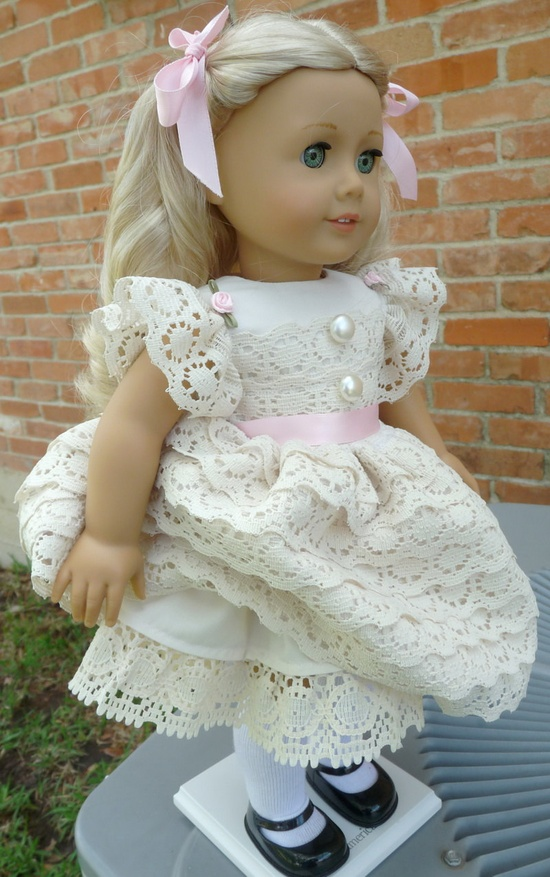 """18"""" Doll Clothes Fancy Special Occasion Dress Fits American Girl Saige, Molly, Emily, Caroline. $45.00, via Etsy."""