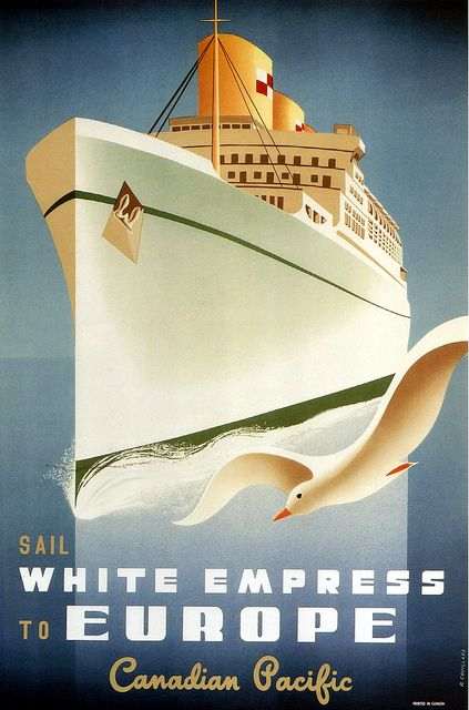 canadian pacific to europe. 1950.