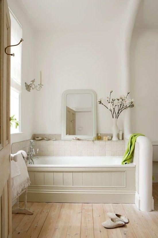 Old white bathroom