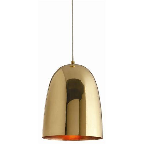 Savoy Large Polished Brass Pendant