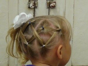 Horizontal Zig Zag Ponytail - Little Girl Hairstyles
