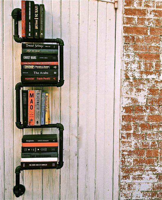 Bookshelf Industrial Pipe 2 Way on Etsy by KKatz from stellableudesigns ($125)