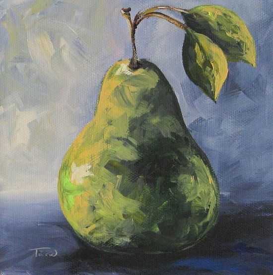 Little Green Pear an Original Painting by Torrie Smiley $35.00