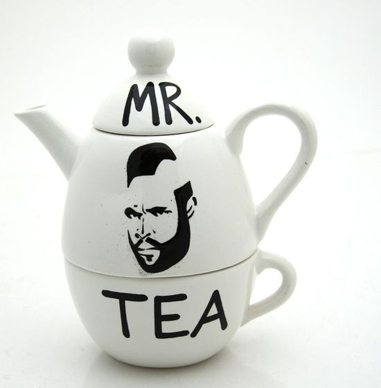 The awesome icon Mr. T, teapot with teacup $8.30