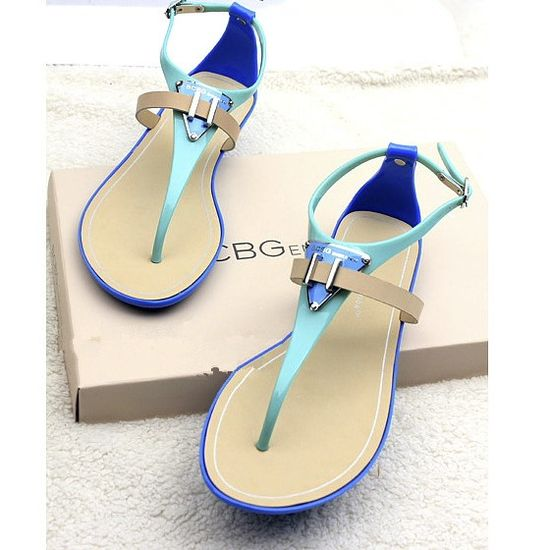 Flat jelly candy color flat shoes