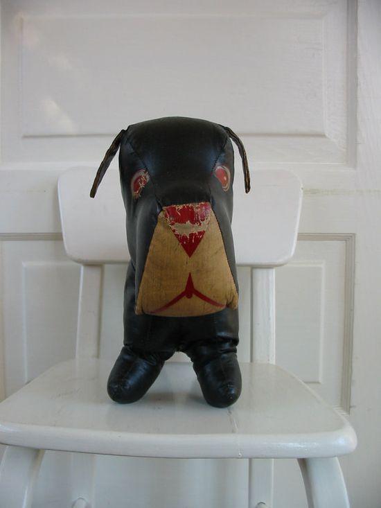 Vintage Stuffed Dog Children Toy  vintagejane