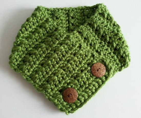 Hand made adjustable scarf in Green Apple.
