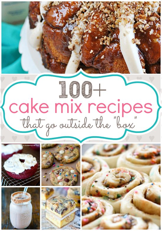 Over 100 creative #recipes that start with a #cake mix at www.somethingswan...