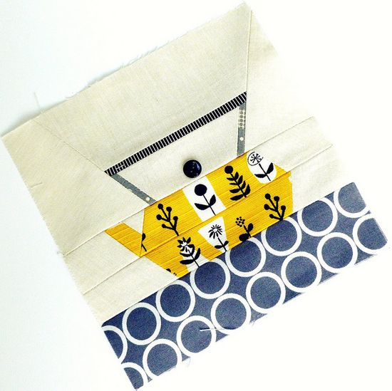 Cocorico September Bee block - Kitchen Couture by {Leila} Where Orchids Grow, via Flickr