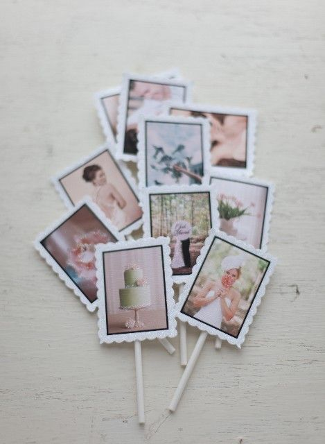 photo cupcake toppers..