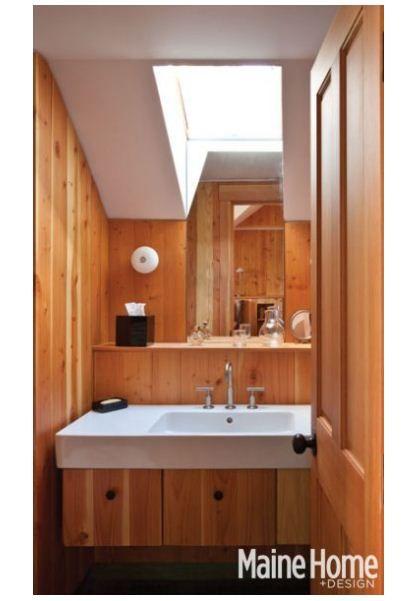 Lake house bathroom idea
