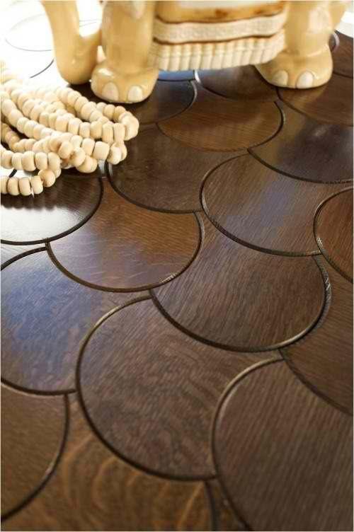 Wood floor tiles designed