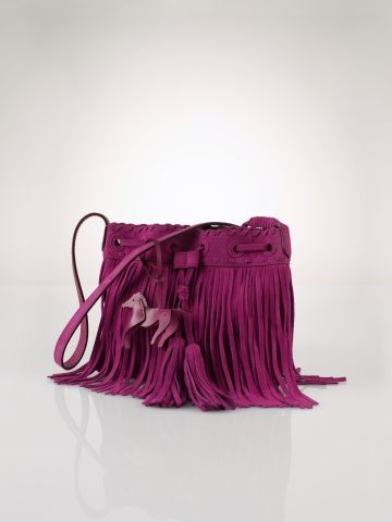 Suede Fringe Shoulder Bag - Girls Accessories - RalphLauren.com