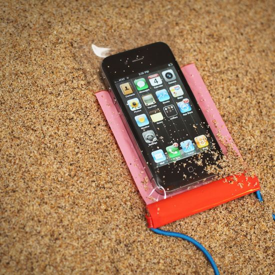 Waterproof bags for a smartphone.