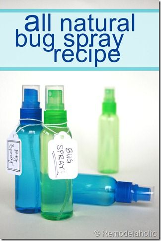 Make it yourself all natural bug spray recipe