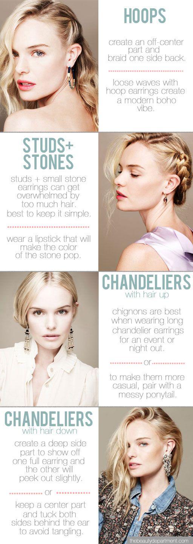 Earrings & hairstyles