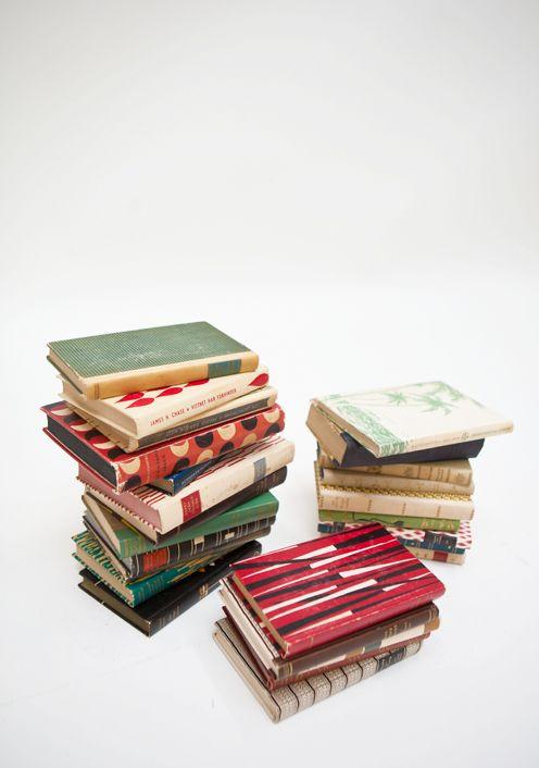 Photo by Elisabeth Dunker of Fine Little Day / #books #vintage #colorful