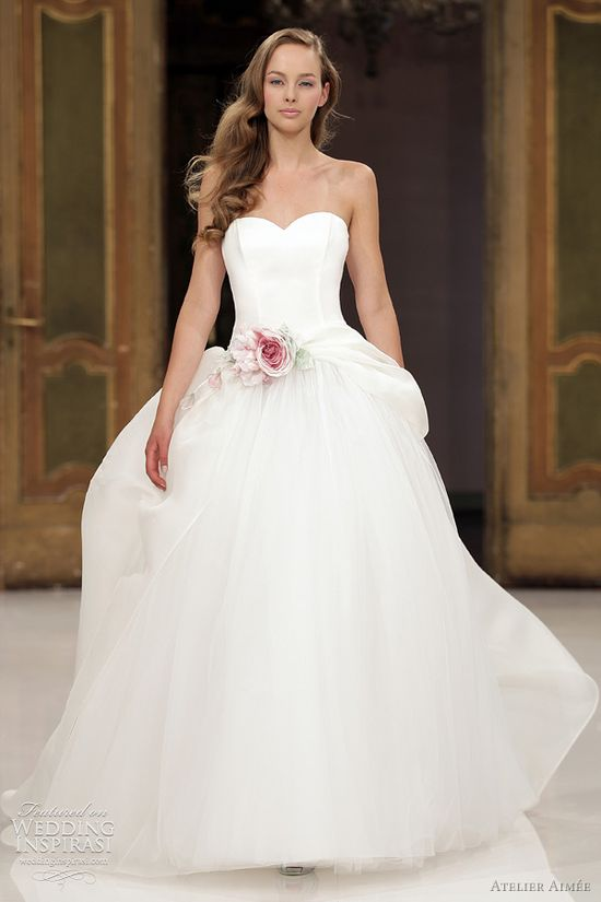 Atelier Amee gown with gorgeous flower at the waist...the most beautiful gown.
