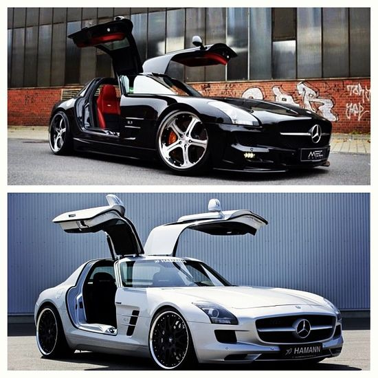 A couple 2012 Mercedes Benz SLS AMG's.  #wow ?#cars #automobiles ?#petroleumheads SA VIDEO BASED CAR MAG BBM :226EA496